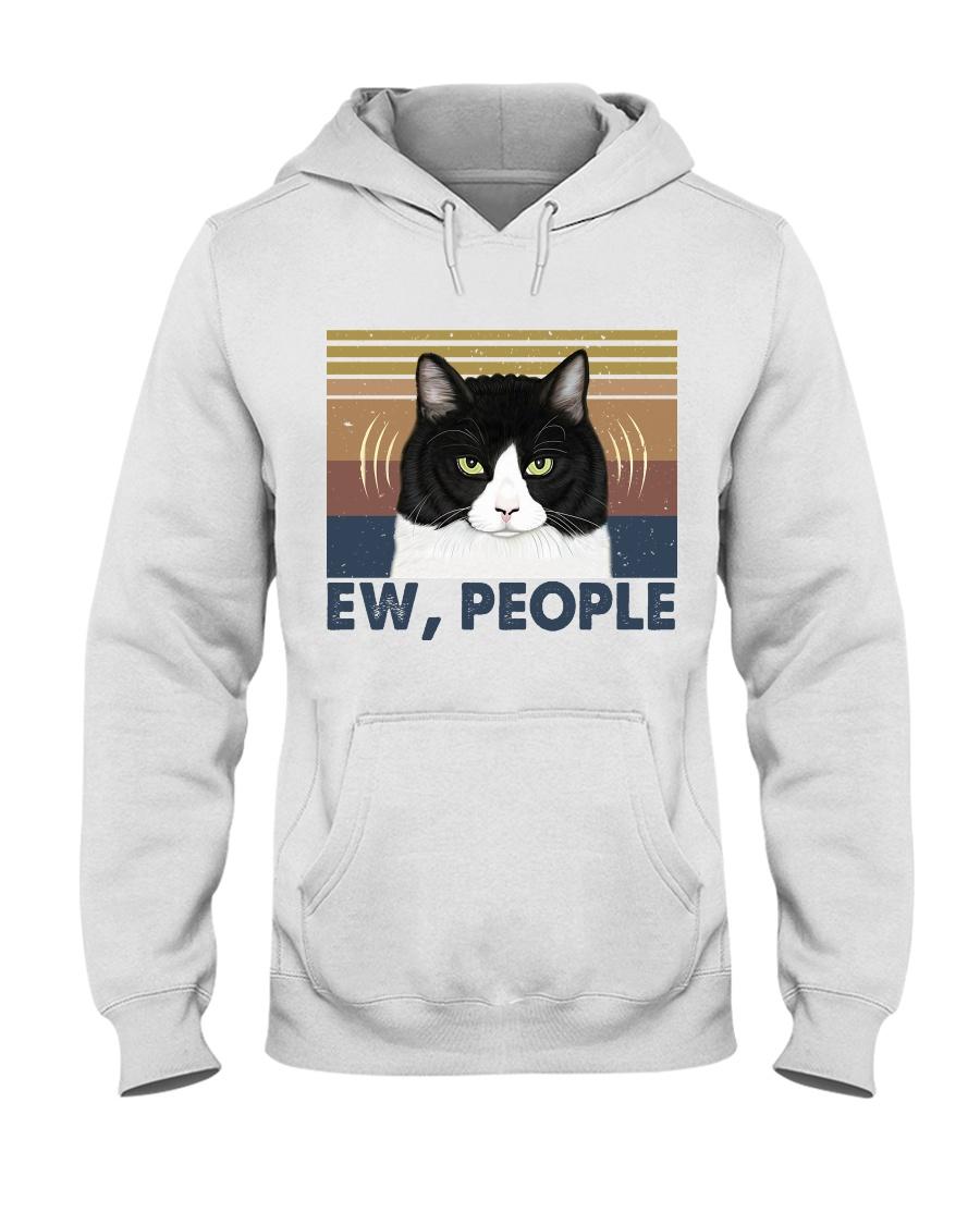 Ew People Funny Cat Hooded Sweatshirt