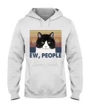 Ew People Funny Cat Hooded Sweatshirt front