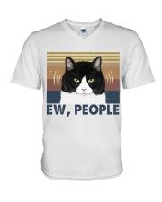 Ew People Funny Cat V-Neck T-Shirt thumbnail