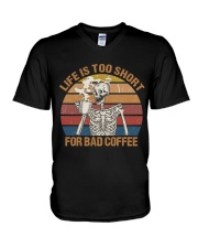 Life Is Too Short V-Neck T-Shirt thumbnail