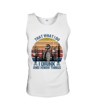 I Drink And I Know Things Unisex Tank thumbnail