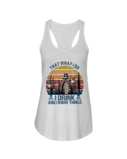 I Drink And I Know Things Ladies Flowy Tank thumbnail