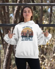 I Drink And I Know Things Hooded Sweatshirt apparel-hooded-sweatshirt-lifestyle-05