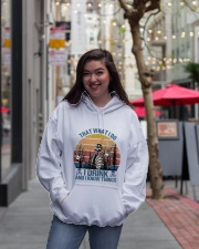 I Drink And I Know Things Hooded Sweatshirt lifestyle-unisex-hoodie-front-2