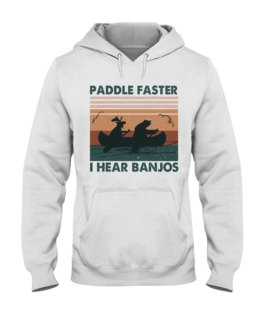 Paddle Faster I Hear Bajos Hooded Sweatshirt