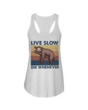 Live Slow Die Whenever Ladies Flowy Tank thumbnail