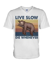 Live Slow Die Whenever V-Neck T-Shirt thumbnail