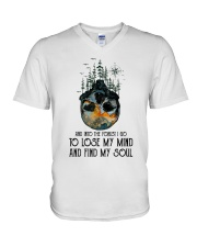 Life Is Like A Road V-Neck T-Shirt thumbnail