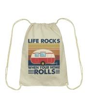 Life Rocks When Your Home Drawstring Bag thumbnail