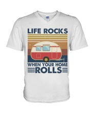 Life Rocks When Your Home V-Neck T-Shirt thumbnail