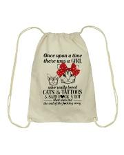 Cats And Tattoos Drawstring Bag thumbnail