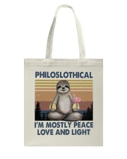 Philoslothical Tote Bag thumbnail