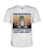 Philoslothical V-Neck T-Shirt thumbnail