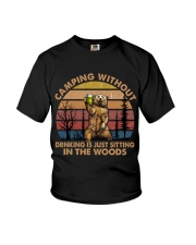 Camping Without Drinking Youth T-Shirt thumbnail