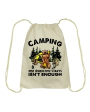 Camping For When Five Stars Drawstring Bag thumbnail