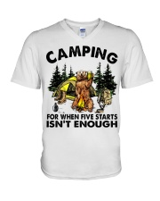 Camping For When Five Stars V-Neck T-Shirt thumbnail