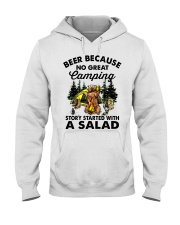 Beer Because No Great Hooded Sweatshirt front