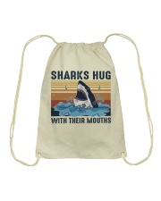 Sharks Hug With Their Mouths Drawstring Bag thumbnail