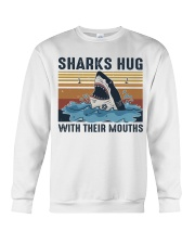 Sharks Hug With Their Mouths Crewneck Sweatshirt thumbnail