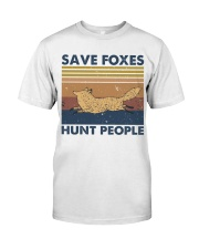 Save Foxes Hunt People Classic T-Shirt thumbnail