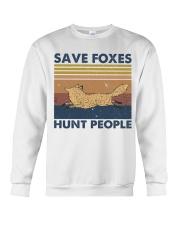 Save Foxes Hunt People Crewneck Sweatshirt thumbnail
