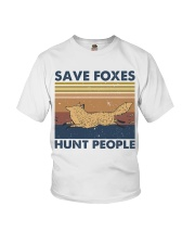 Save Foxes Hunt People Youth T-Shirt thumbnail
