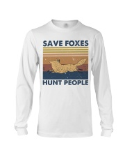 Save Foxes Hunt People Long Sleeve Tee thumbnail
