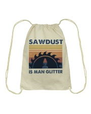Sawdust Is Man Glitte Drawstring Bag thumbnail