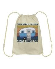 The Cabin Is Calling Drawstring Bag thumbnail