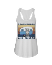 The Cabin Is Calling Ladies Flowy Tank thumbnail