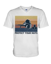 Protect Your Nuts V-Neck T-Shirt thumbnail