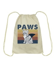 Paws Cat Drawstring Bag thumbnail