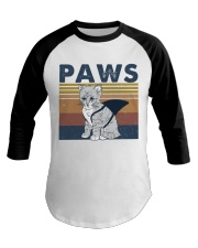 Paws Cat Baseball Tee thumbnail