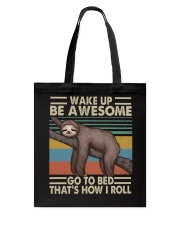 Wake Up Be Awesome Tote Bag tile