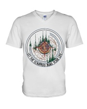 Let The Compass V-Neck T-Shirt thumbnail
