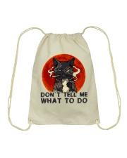 Don't Tell Me Drawstring Bag thumbnail