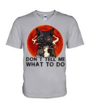 Don't Tell Me V-Neck T-Shirt thumbnail