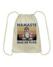 Namaste Hijo De Drawstring Bag thumbnail