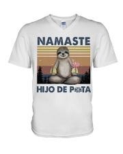 Namaste Hijo De V-Neck T-Shirt thumbnail