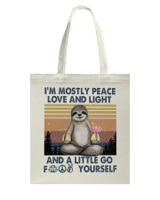 Im Mostly Peace Love Light Tote Bag thumbnail