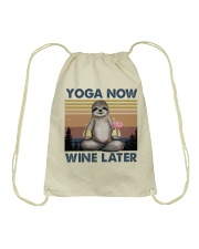 Yoga Now Wine Later Drawstring Bag thumbnail