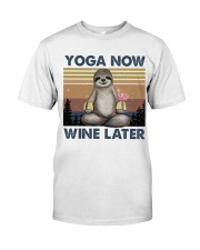 Yoga Now Wine Later Classic T-Shirt thumbnail