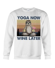 Yoga Now Wine Later Crewneck Sweatshirt thumbnail