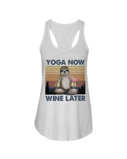 Yoga Now Wine Later Ladies Flowy Tank thumbnail