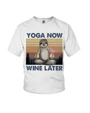 Yoga Now Wine Later Youth T-Shirt tile