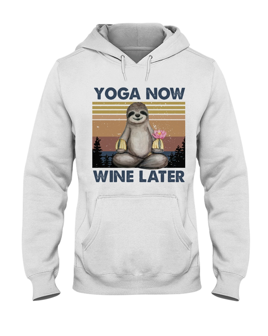 Yoga Now Wine Later Hooded Sweatshirt