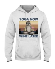 Yoga Now Wine Later Hooded Sweatshirt front