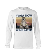 Yoga Now Wine Later Long Sleeve Tee tile