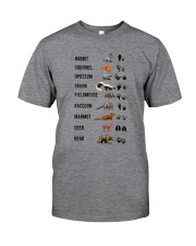 Woodland Animal Tracks Classic T-Shirt front