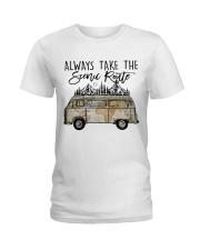 Always Take the Scenic Route Ladies T-Shirt thumbnail